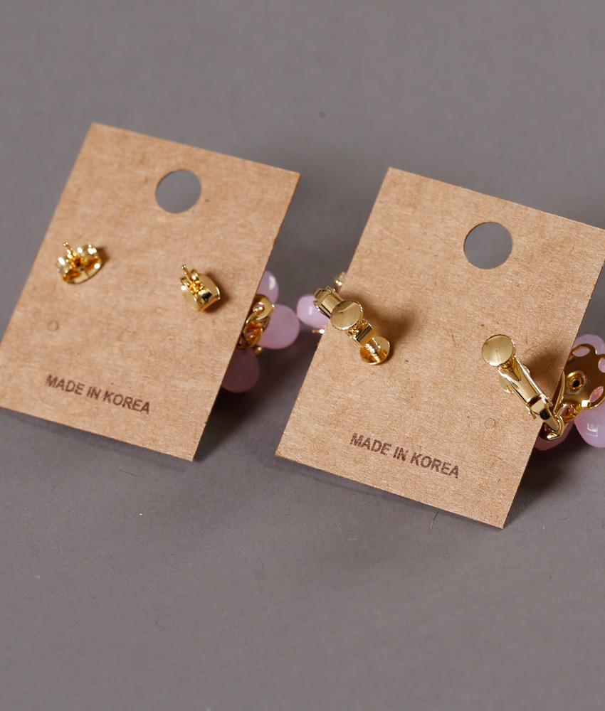 画像3: [ジュエリー][ピアス][イヤリング]ピンク系・お花型・揺れる・ストーン・ピアス・イヤリング
