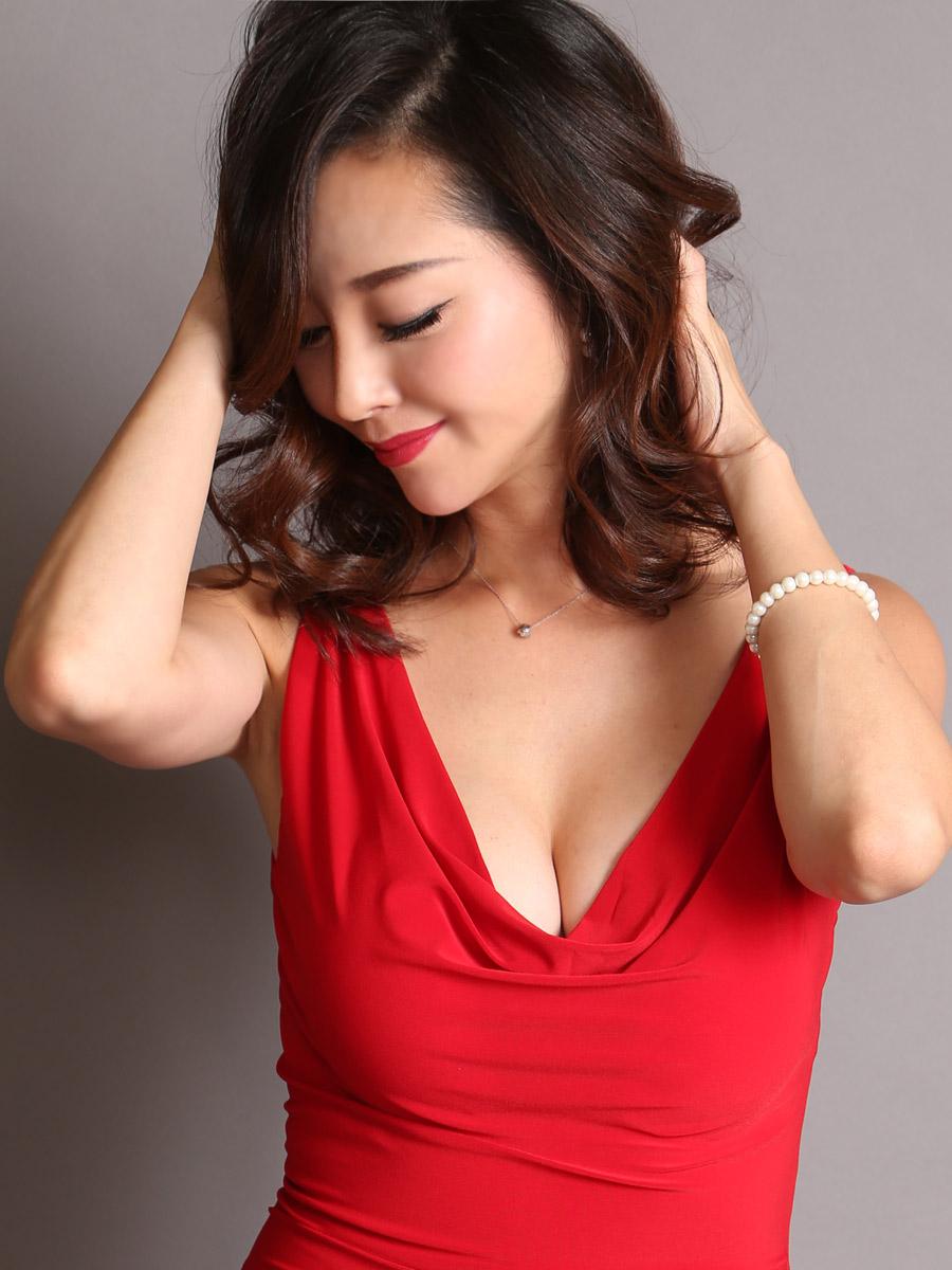 画像4: [COLORDRESS] [山崎みどり着用][姉ageha]レッド・胸元ドレープ・シンプル・ノースリーブ・サイドスリット・ロングドレス[送料無料]m_