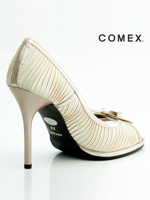 画像5: [一部予約販売][COMEX 日本製]リボン・オープントゥー・シャーリングサテン・ハイヒール・ピンヒール・パンプス《送料&代引き手数料無料》