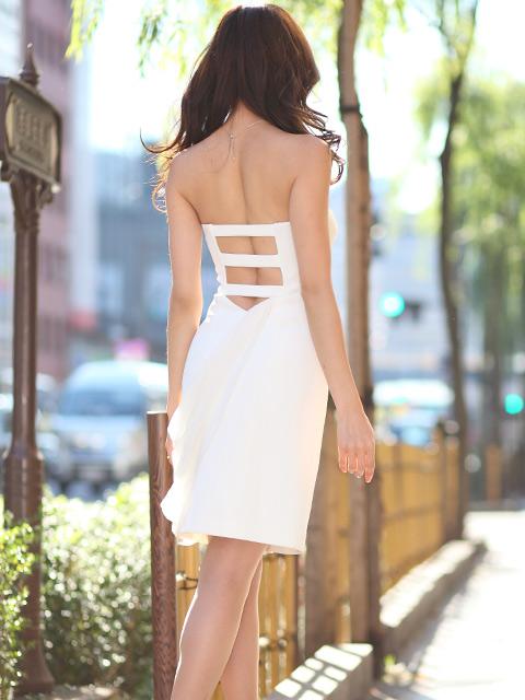 画像3: [山崎みどり着用]胸元リボンビジュー・背中開き・ミニドレス・ワンピース《送料&代引き手数料無料》mall
