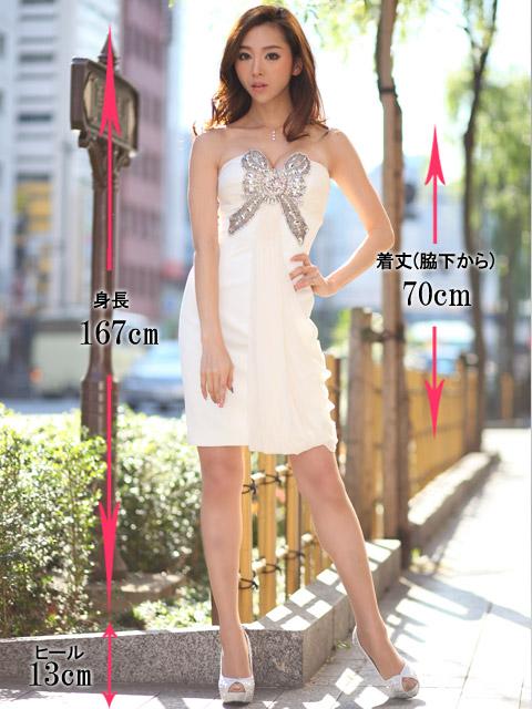 画像5: [山崎みどり着用]胸元リボンビジュー・背中開き・ミニドレス・ワンピース《送料&代引き手数料無料》mall