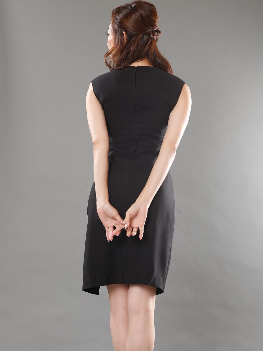 画像3: 【SALE品のため返品不可】[LK][山崎みどり着用][姉ageha]ブラック・パールライン・サイドスリット・シンプル・ノースリーブ・ミニドレス・ワンピース