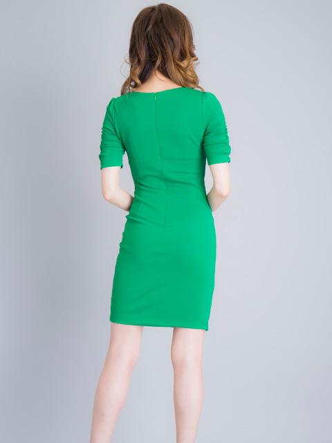 画像3: 【SALE品のため返品不可】[ERUKEI][山崎みどり着用]グリーン・半袖・カシュクール・ビジュー・ミニドレス・ワンピース