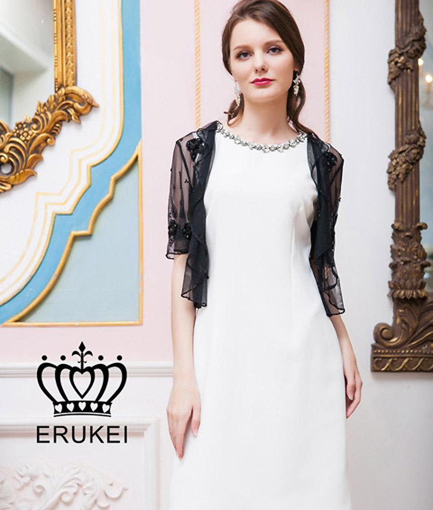 画像5: [ERUKEI]ブラック・スリーブ・ビーズ刺繍・ボレロ[送料無料]