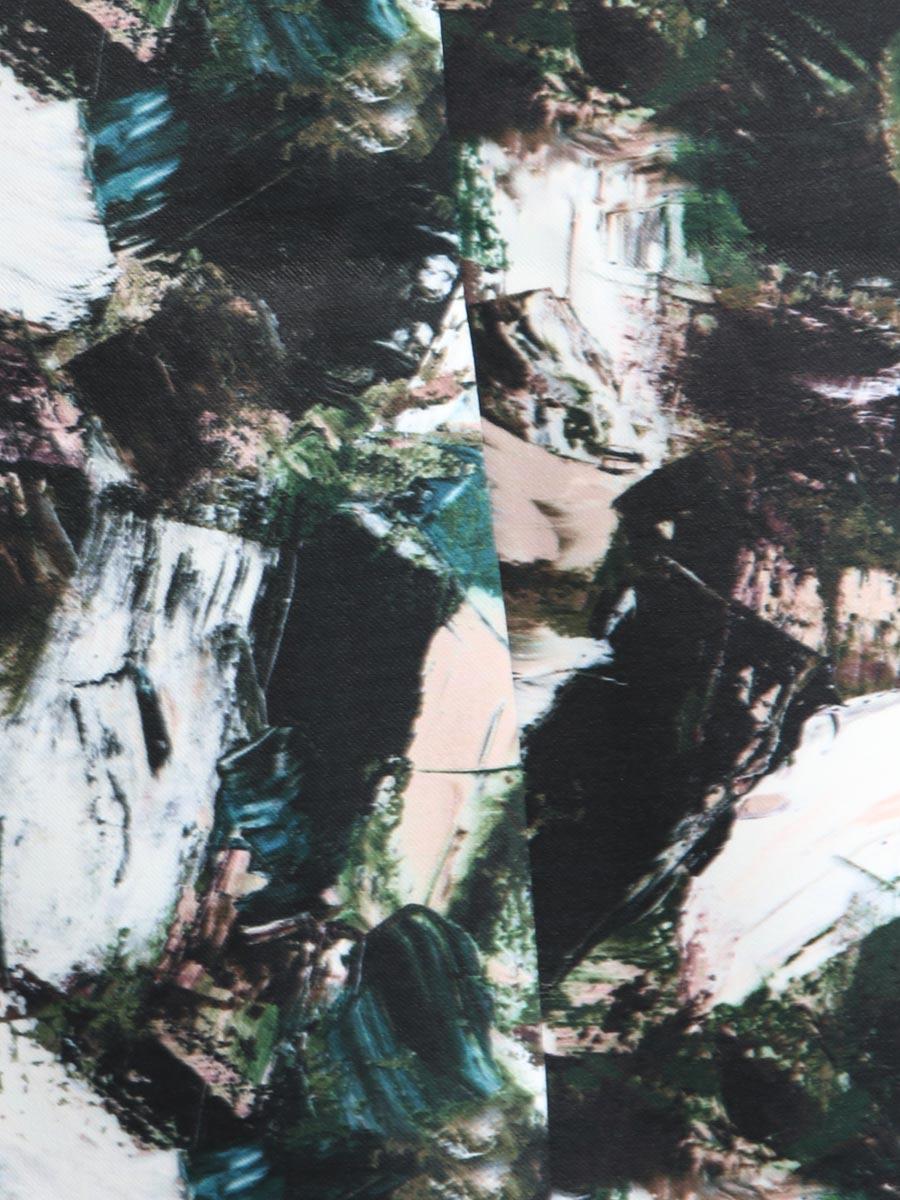 画像4: [Rinfarre]グリーン系・ペイント柄・プリント・タイト・ミディアム・膝丈・スカート[送料無料]