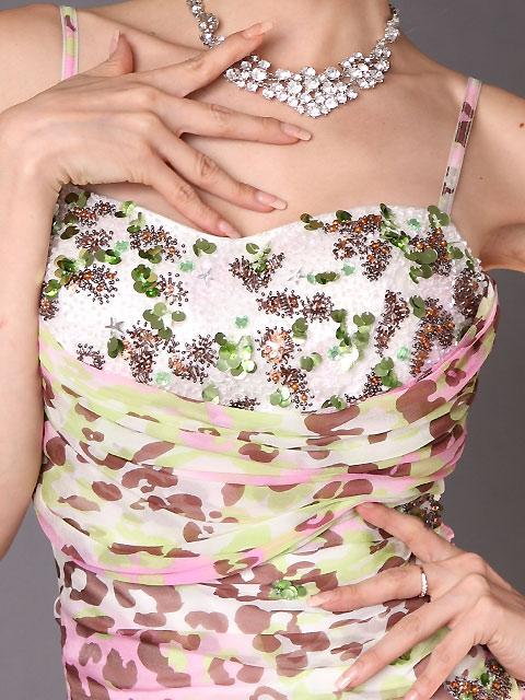 画像4: [山崎みどり着用][ERUKEI]カラフルレオパード・豪華ビーズ刺繍・ロングドレス[送料無料] (4)