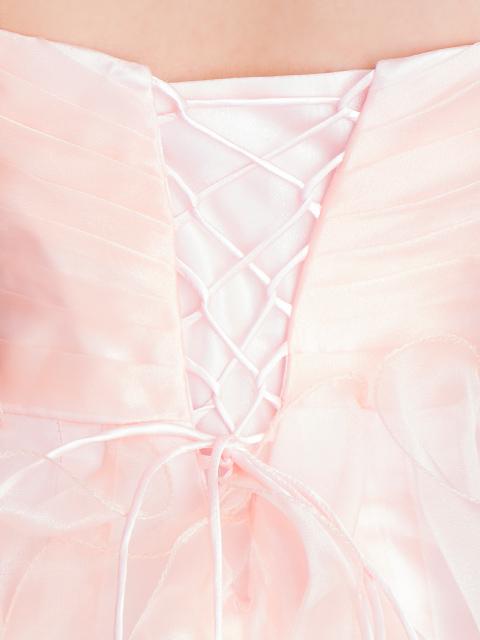 画像: [Angel R]オーガンジーフリル・ハートカット・ベア・フロントミニ・ロングドレス《送料&代引き手数料無料》