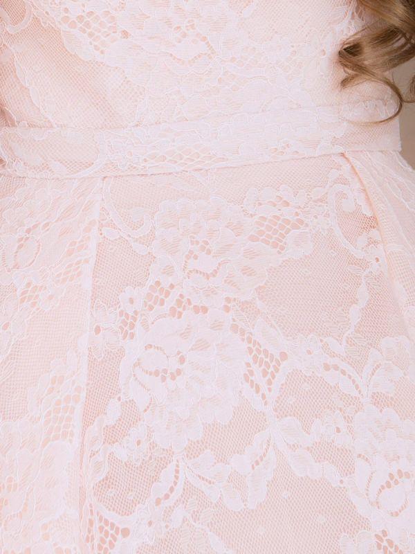 画像: [Angel R]総レース・ウエディング・胸元ビジュー・ベア・ハイウエスト・プリンセス・Aライン・スピンドル・ロングドレス《送料&代引き手数料無料》