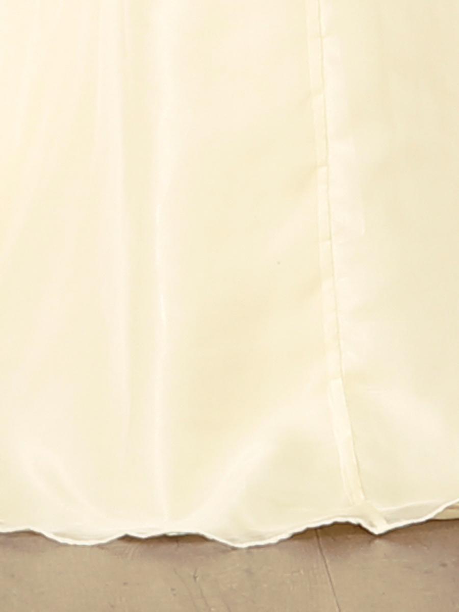 画像: [Angel R]ハイネック・イエロー・豪華ビジュー・ノースリーブ・ハイウエスト・Aライン・ロングドレス《送料&代引き手数料無料》