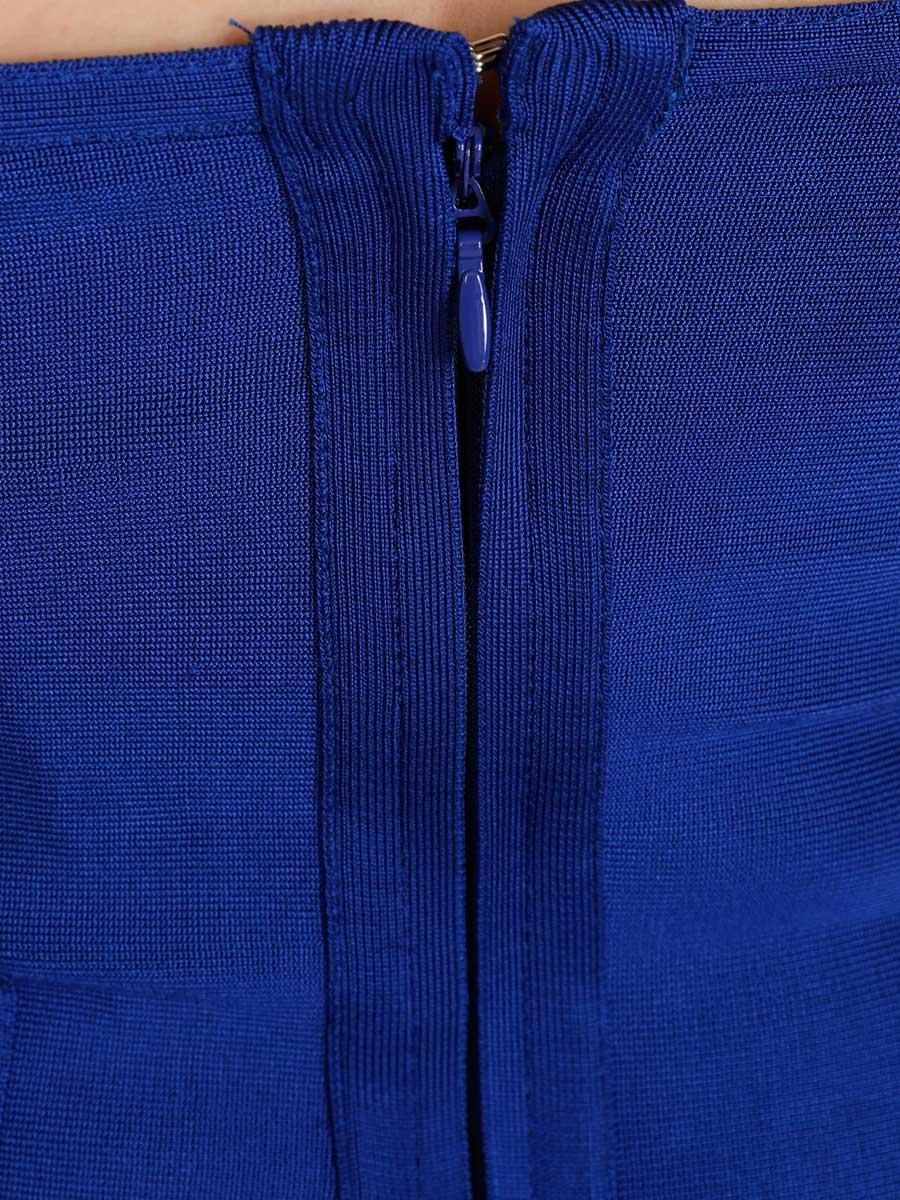 画像: [Angel R][山崎みどり着用][姉ageha]バンテージ・ロイヤルブルー・オフショルダー・半袖・スカラップ・大人・ミニドレス[送料無料]