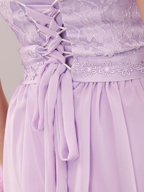 画像: 【SALE品のため返品不可&再入荷なしの現品限り】[Rinfarre] [山崎みどり着用][姉ageha]ラベンダー・ホルターネック・コサージュ付き・バックスピンドル・ロングドレス