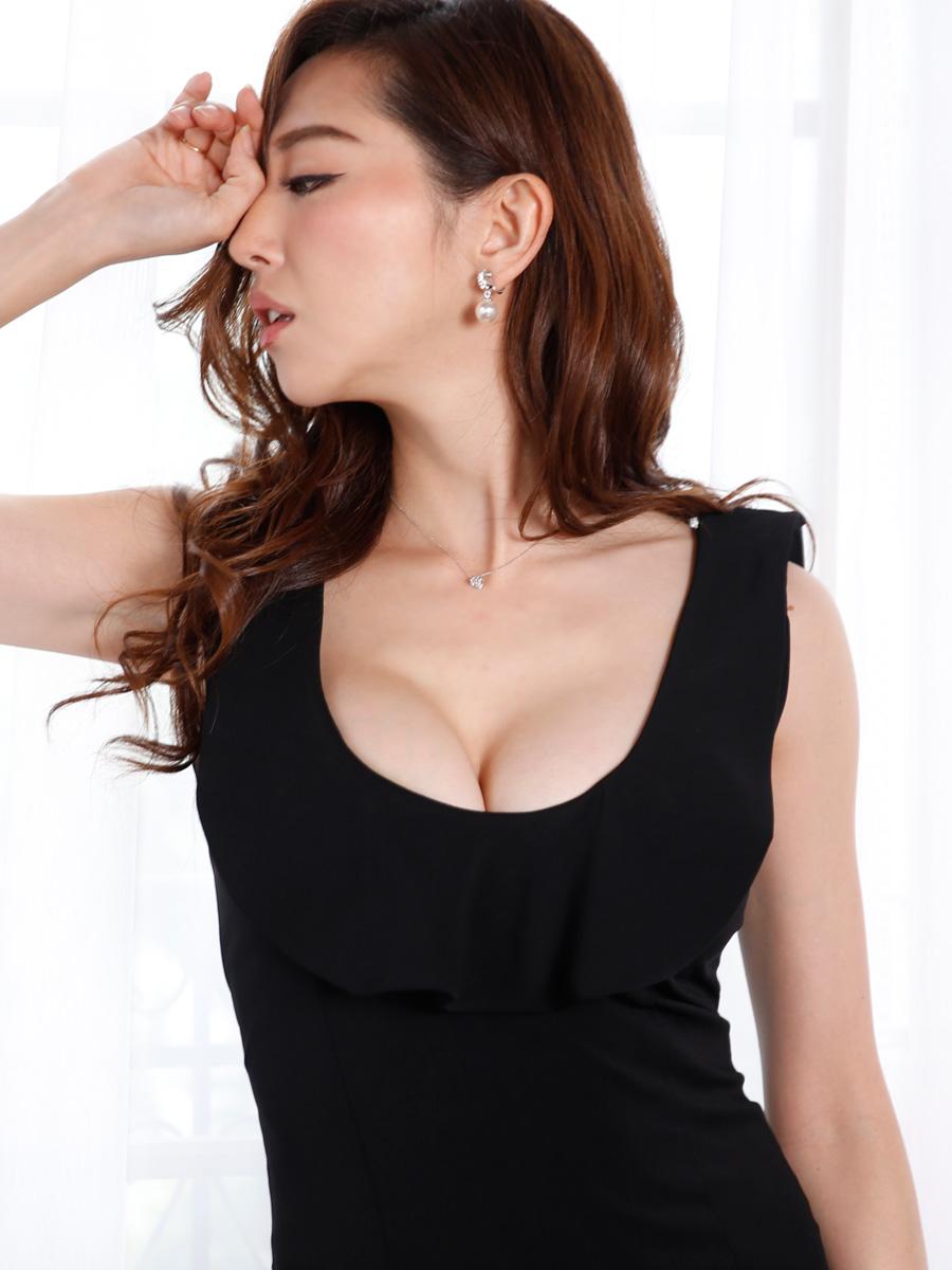 画像4: [COLORDRESS] [山崎みどり着用][姉ageha]シンプル・無地・胸元フリル・ノースリーブ・ミディアムドレス・ワンピース[送料無料]【mbk】 (4)
