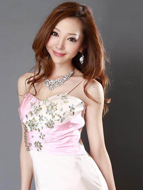 画像: 【SALE品のため返品不可】[ERUKEI][山崎みどり着用]花形スト-ン・シャ-リング・バック・ロングドレス