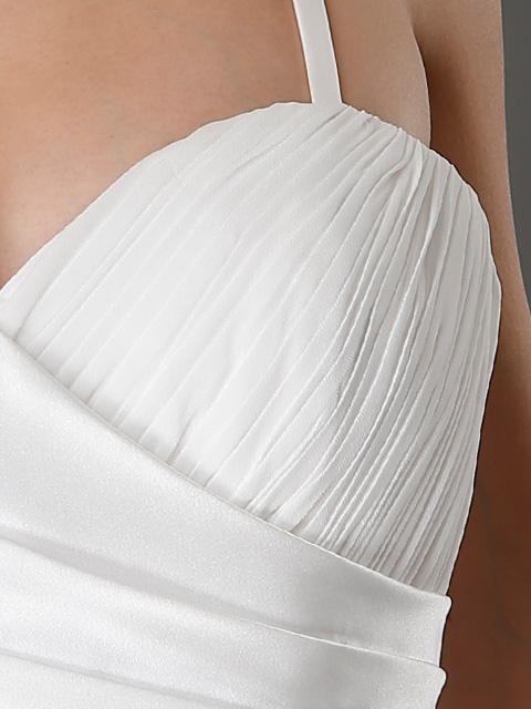 画像: [ERUKEI][山崎みどり着用]胸元シャーリング・エレガント・シンプル・ロングドレス[送料無料]